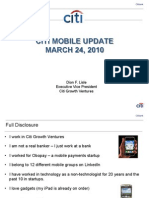 CITI Mobile Update March 2010