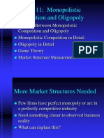 Chapter 11 Monopolistic Competition Oligopoly