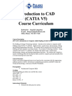 Introduction Catia Course Curriculum