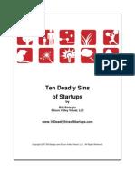 10 Deadly Sins of Startups