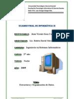 Examen Inf. III. Juan v. Sosa