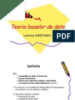 Teoria Bazelor de Date 4_2010