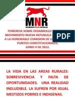 Ponencia MNR sobre Ley de Desarrollo Rural