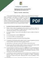 Edital Isencao PAES 2013
