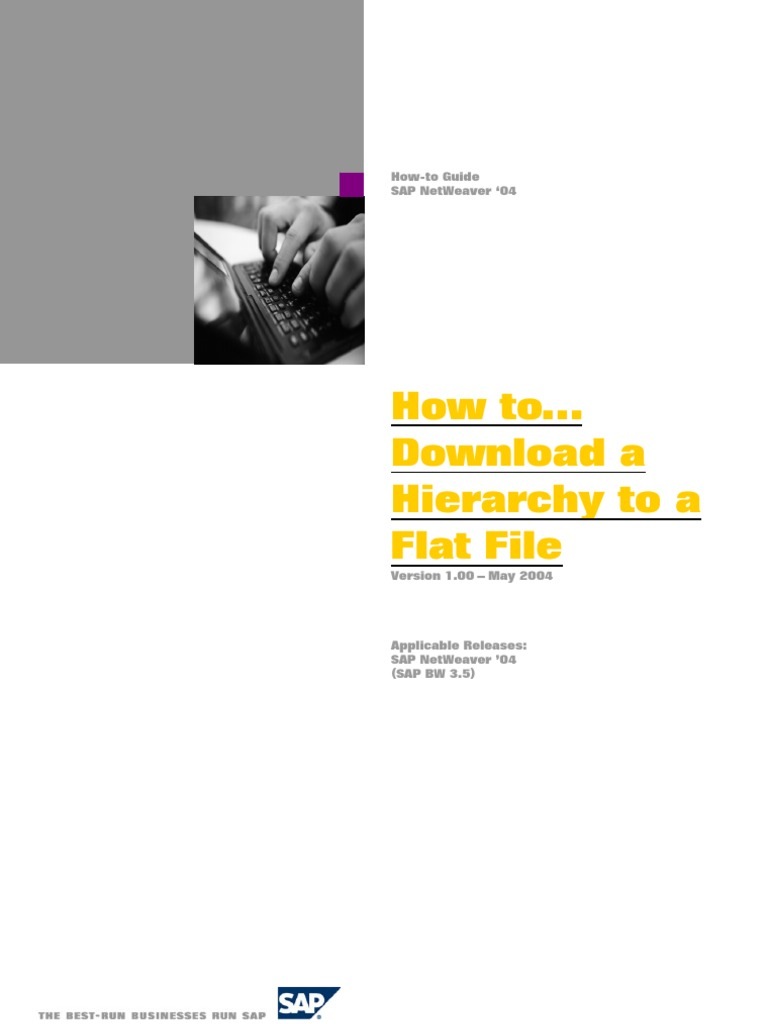 How to Download a Hierarchy to a Flat File | Ibm Db2 | Oracle ...