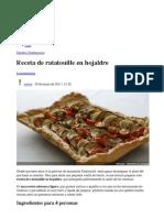Receta de Ratatouille en Hojaldre