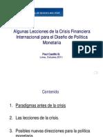 Lecciones de La Crisis Financiera