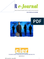 CIER E-journal - January 2009 Issue