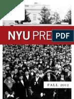 NYU Press | Fall 2012 Catalog