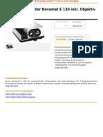 Braun Diaprojektor Novamat E 130 Inkl. Objektiv 2,8 85 Mm MC