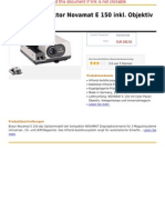 Braun Diaprojektor Novamat E 150 Inkl. Objektiv 2,8 85 Mm MC
