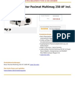 Braun Diaprojektor Paximat Multimag 250 AF Incl. 2,8 85 Mm MC