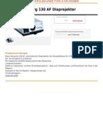 Braun-Nuernberg 130 AF Diaprojektor