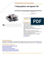 Reflecta 2000 AF Diaprojektor Mit Agomar MC 2.8 90 Mm