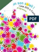 Programme Eté Cachan 2012