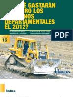 ¿EN QUÉ GASTARAN EL DINERO LOS GOBIERNOS DEPARTAMENTALES EL 2012?