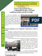 PLAN 11851 Notas de Prensa - Diciembre 2011 2011
