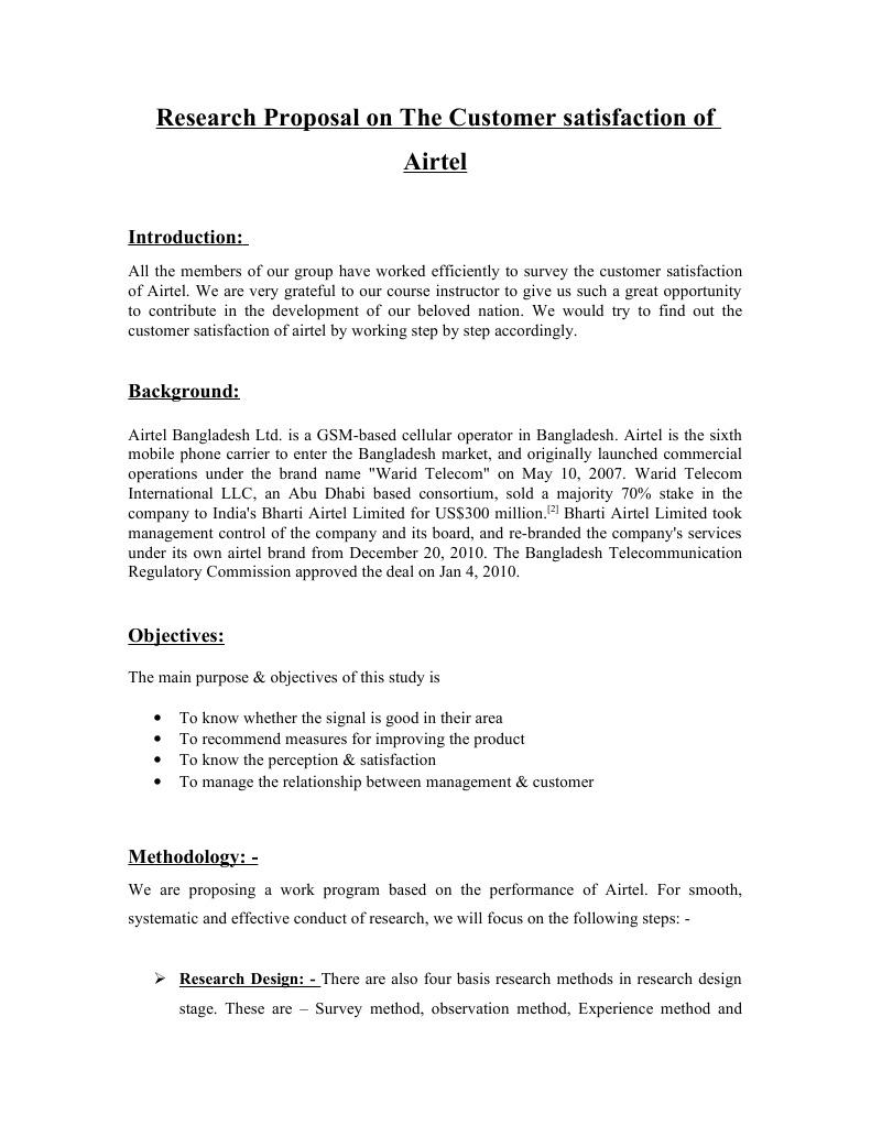 study proposal