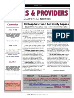 Payers & Providers California Edition – Issue of June 7, 2012