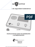 2GIG-CNTRL2 Installation and Programming Instructions (SPANISH)