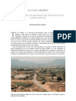 LA CASA AMADEO. PERVIVENCIA DE UNA HACIENDA DEL SIGLO XVII EN EL CAMPO ASPENSE (2002)        Felipe Mejías López