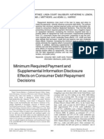 Minimum Required Payment and Supplemental Information Disclosure Effects on Consumer Debt Repayment Decisions