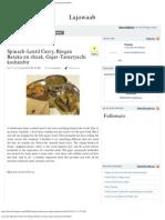 Lajawaab_ Spinach-Lentil Curry, Ringan Bataka Nu Shaak, Gajar-Tamatyachi Koshimb