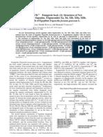Medicinal Foodstuffs. XVIIFenugreek Seed. (3) Structures of New