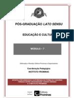 EDUCAÇÃO E CULTURA--MÓDULO 7