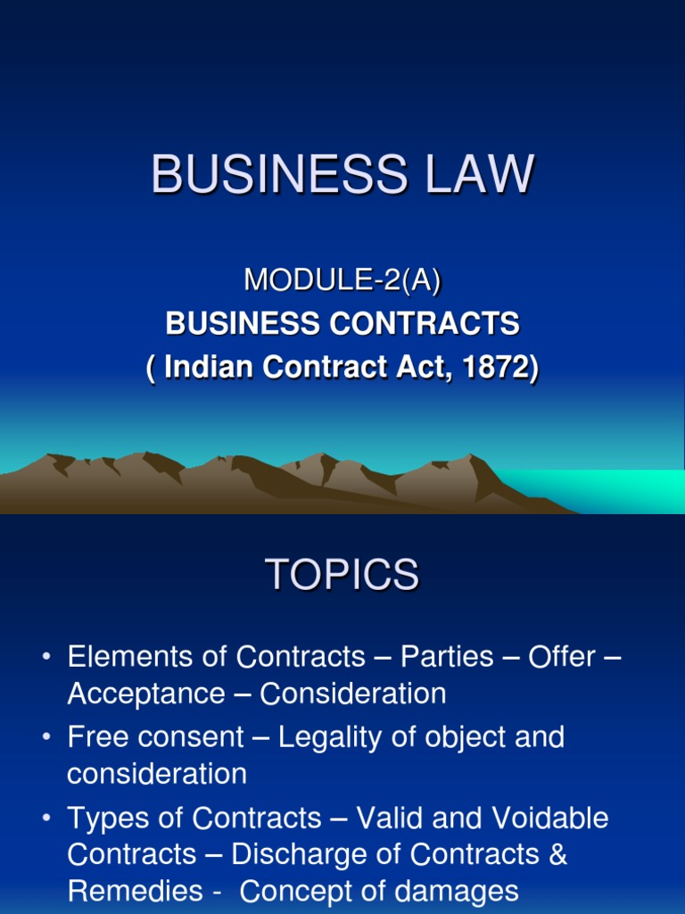 consent in business law