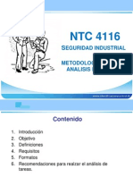 NTC-4116 Seguridad Industrial Metodología para el análisis de las tareas