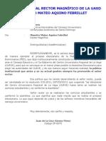 CARTA PÚBLICA AL RECTOR MAGNÍFICO DE LA UASD MAESTRO MATEO AQUINO FEBRILLET