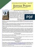 Jumaa Prayer 8june12