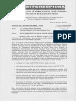 OFICIO Nº 002-2012-GRP-FESITEREG-PIURA SOLICITUD DESTITUCION DE ASESOR JURIDICO