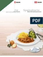 DB Speisekarte Bordrestaurant Juni 2012