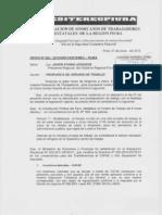 OFICIO Nº 003-2012-GRP-FESITEREG-PIURA PROPUESTA DE HORARIO DE TRABAJO