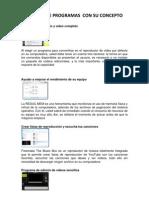 10 Tipos de Programas Con Su Concepto