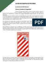 SEÑALIZACIÓN DE EQUIPOS EXTINTORES
