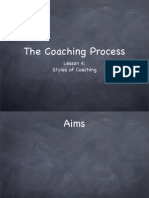 Coaching Process Lesson 4- Styles of Coaching
