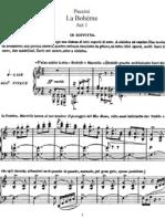 La Boheme Vocal Score
