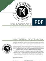 Neighbourhood Summit Program
