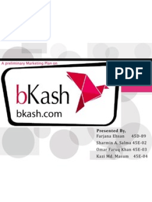 Marketing Plan of bKash_Group 2 | Financial Inclusion