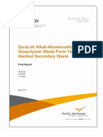 Geopolymer Waste Form Testing for Hanford Secondary Waste