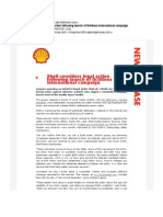 Shell Considers Legal Action Following Launch of Fictitious International Campaign