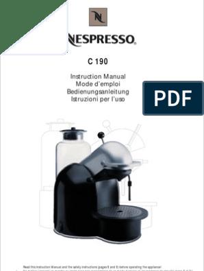 Nespresso es100 user guide manual pdf | manualzz.