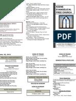 Church Bulletin -June 10th
