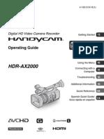 Manual Sony AX2000
