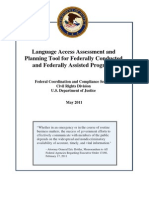 Language Access Assessment and Planning Tool