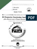 Traverso, C. y Castro Paredes, L. (1997) El Proyecto Curricular Institucional ¿cómo generarlo desde el Proyecto Educativo Institucional Documento 4.