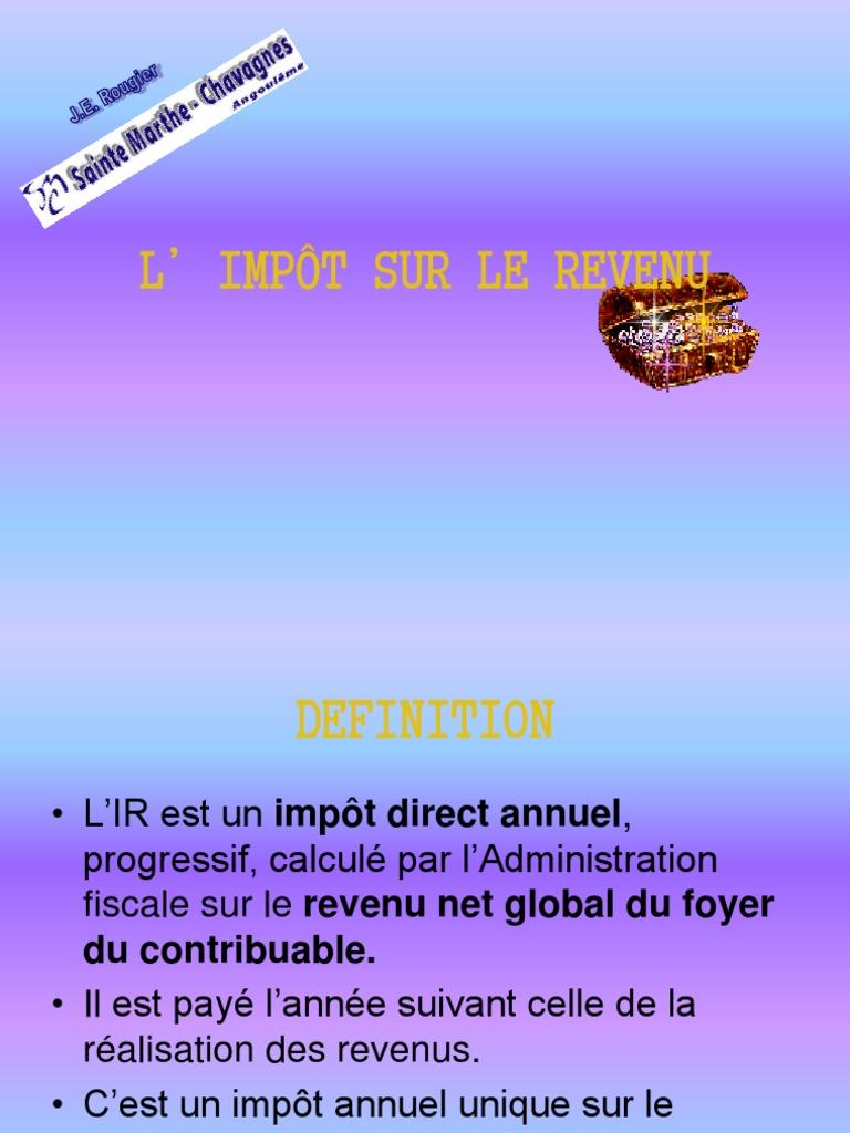 L Impot Sur Le Revenu